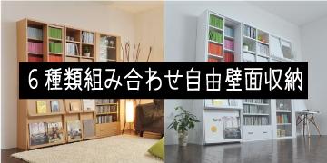 6種類から選ぶ壁面収納