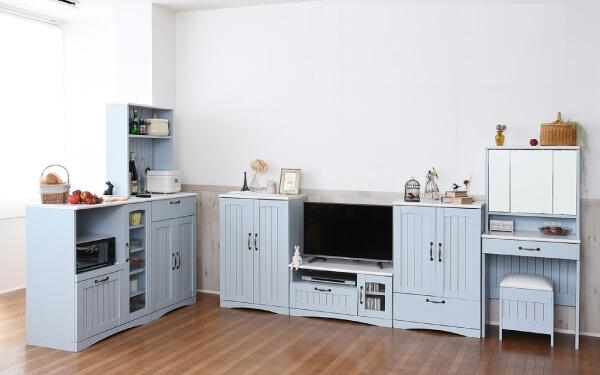 フレンチカントリー シリーズ家具 ブルー&ホワイト
