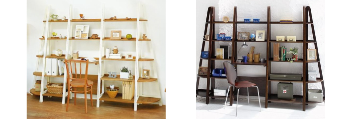 木製デザインラック壁面収納