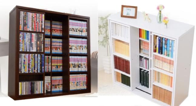 おすすめ本棚-スライド書棚